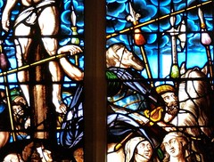 Cambridge - Peterhouse College - Chapel (Glass Angel) Tags: cambridge chapel cambridgeshire crucifixion stainedglasswindows peterhousecollege