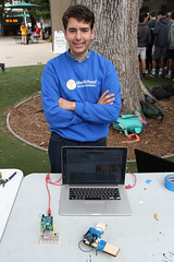 PZ20160513-009.jpg (Menlo Photo Bank) Tags: ca boy people usa computer ian us spring student technology engineering quad science event laser individual atherton 2016 engaging upperschool makerfaire menloschool photobypetezivkov appliedscienceresearch