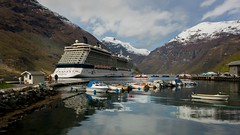 Boats at Geiranger Fjord (Martyn William) Tags: norway norge geiranger geirangerfjord nikond810 celebrityxcruises celebrityeclipse martynwilliamphotography martynwilliam nikonafs1424mmf28gedlens