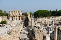A View to the Library (_Codename_) Tags: turkey landscape library columns ephesus publictoilets libraryofcelsus curetesstreet