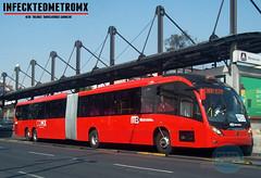 Neobus Mega BRT Mercedes Benz Prot-21 (infecktedbusgarage) Tags: mexico l1 mexican mercedesbenz ciudaddemexico brt mega metrobus busrapidtransit articulado mexicanbus cdmx neobus