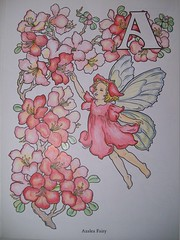 Coloring A Fairy (Lynne M. B.) Tags: flowers illustration fairy coloring dover coloringbook