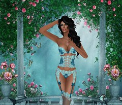 Carrie's Lingerie - Trista - Teal (catsrage17) Tags: omega carries mayfly slink estyle nailedit analogdog akeruka wowskins