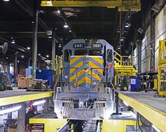 Turbo replacement (GLC 392) Tags: railroad cn train illinois railway grand canadian il national western shops trunk homewood markham gtw emd 5951 sd403