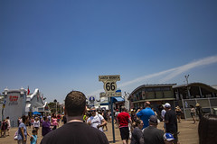 The Pier is also Last Stop on Route 66 (etzel42) Tags: ocean california santa ca pier santamonica socal monica boardwalk westcoast