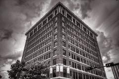 Downtown Waco Building (rrunnertexas) Tags: panasonic lumix gm1 kitlens bw building waco texas wideangle