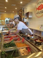 the Food assembly line (Riex) Tags: california asian cuisine japanese restaurant sanjose hawaiian fusion californie asiatique japonaise g9x pokhouse