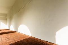 Cloister (Tanya.Kirilova) Tags: shadow white composition nikon geometry curves shapes minimal monastery shade czechrepublic cloister minimalism shape minimalistic impression minimalist whitewall compostion geometrie cheb minimalistphotography nikond7100