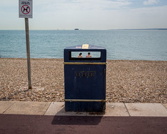 summertime (dizbin) Tags: candid color colour dizbin em10 england hampshire juxtoposition landscape outdoors olympus omd om photo photograph photography people portrait portsmouth street streetphotography summer beach 24 southsea bin litter obscured dof
