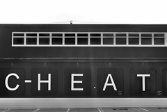 CHEAT Inc. (Mister Day) Tags: building sign ethics cheat morals ofthetimes