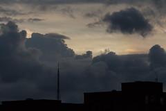 Cloud with oversized toupe! (Sculptor Lil) Tags: sky london weather clouds sundog atmosphericoptics canon700d dslrsingleexposure