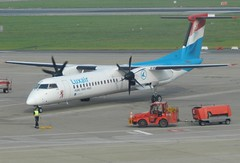 LX-LGG DHC-8 Luxair (graham19492000) Tags: germany luxair hamburgairport dhc8 lxlgg