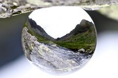 Spherical Honister Pass (Bucky O'Hare) Tags: lake art glass ball landscape scenery artistic crystal district pass scene sphere cumbria inverted honister