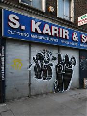 Nigel / 2Rise (Alex Ellison) Tags: urban shop graffiti store boobs shutter graff gw nigel eastlondon throwup cbm throwie tnf ghostwriters tworise 2rise