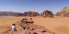 Wadi Rum-top of small arch (kevinwenning) Tags: landscape arch desert wadirum tourist jordan vista guide wenning smallarch kevinwenning intentionallylostcom