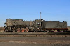 I_B_IMG_7384 (florian_grupp) Tags: china railroad train landscape asia mine desert muslim railway steam xinjiang mikado locomotive ore js steamlocomotive 282 opencastmine yamansu