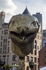 Boston_20160703_058 (falconn67) Tags: summer sculpture art boston bronze canon snake zodiac serpent greenway 24105l kennedygreenway aiweiwei 5dmarkii