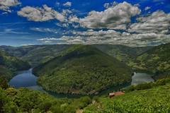 Me-andro Asado (Miguel.G.Torres) Tags: sky sun clouds river landscape nature blue green galicia ourense