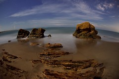 Holong Coast (Vincent_Ting) Tags: rocks beach nightscape     coast fisheye  cloudscape