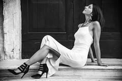 Wonderful feelings ... (alessandrafinocchiaro67) Tags: portrait woman white black art monochrome beautiful beauty open feeling fx nikonflickraward nikond750