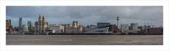 Liverpool's waterfront (andyrousephotography) Tags: panorama liverpool canon river eos waterfront threegraces 5d stitched mersey pierhead albertdock mkiii museumofliverpool
