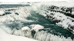 Gullfoss waterfall in semi-frozen motion (lunaryuna) Tags: iceland southwesticeland landscape waterfall gullfoss winter season seasonalwonders cold freezing semifrozenwaterfall ice frozenmotion nature beauty lunaryuna