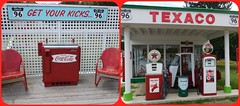 GET YOUR KICKS ON ROUTE 96 (Visual Images1) Tags: diptych signs owego