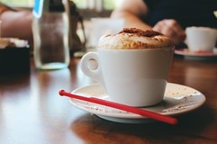 Afternoon Cappuccino (Acqua di Gioia) Tags: coffee cappuccino espresso cup light cafe mug hot indoor drink table aroma beverage caffeine