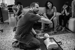 Journalists participating in(Reporters Instructed in Saving Colleagues) about trauma course in arbil. gailan haji-37-032 (Gailan Haji) Tags: phototgraphers journalist photojournalist war conflict isis kurdistan peshmarga canon 5d lens blackandwhite training press news photography flickr journalists participating reporters instructed saving colleagues trauma course arbil