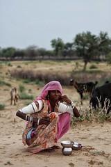 Desert Woman, near Pokaran-India (MeriMena) Tags: woman cultures canon450d beautiful rural merimena rajasthan pokaran desert asia canon india portrates travel