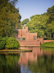 Pumphouse at the Laapersveld park in Hilversum.