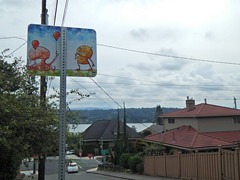 """""""Art Interruptions 2016"""" makes its way to the Rainer Valley East-West Neighborhood Greenway with whimsical temporary installations (Seattle Department of Transportation) Tags: seattle sdot transportation art artinterruptions2016 greenway rainier se officeofartsculture arts 1forartfunds walktober annual temporary program newholly othello brighton lakewood sewardpark installations"""
