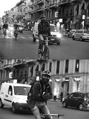 [La Mia Citt][Pedala] Simone Lunghi sorridente e senza mani (Urca) Tags: milano italia 2016 bicicletta pedalare ciclista ritrattostradale portrait dittico bicycle bike biancoenero blackandwhite bn bw nikondigitale 889111 simonelunghi