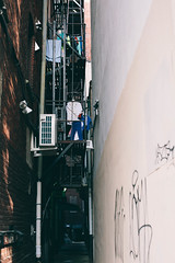 001 Alley (AriellaK) Tags: alley chinatown philly china town clothes light fireescape building