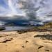 Elgol looking across loch scavaig at black cuillins of skye