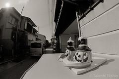 いつものポスト / The Usual Post (Takeshi Nishio) Tags: nikonf100 白黒 fujiacros100 o56 ei100 フィルム 16mmfisheye ネガ いつものポスト spd1120deg65min filmno802