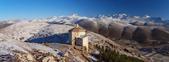 Human vs nature (filippo rome) Tags: italy snow mountains italia neve montagna abruzzo gransasso abruzzi calascio roccacalascio