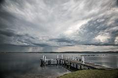 The Storm That Wasn't (Amanda Ayre) Tags: storm jetty australia newsouthwales lakemacquarie squidsink nikond750 amandaayre
