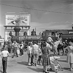 [Atchison, Topeka, & Santa Fe, 'Cyrus K. Holliday' Locomotive No. 1 with Tender, Left Broadside] (SMU Central University Libraries) Tags: trains railways locomotives railroads tenders railroadstations atsf depots atchisontopekaandsantaferailwaycompany atchisontopekasantaferailwaycompany