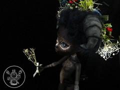 Soetkin (saijanide) Tags: monster forest fur moss high woods mod doll artist dolls ooak horns deer antlers horn custom ram creature huntress headdress repaint faceup soetkin saijanide