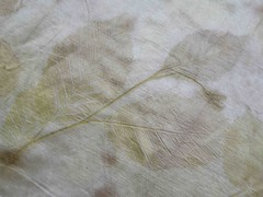 empreinte sur chanvre soie