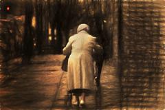 Life was so long (irina_escoffery) Tags: street old lady candid vivitar