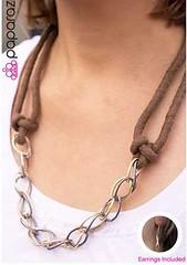 5th Avenue Brown Necklace K1A P2310A-5