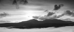 Glengarry Mountains (maxbryan92) Tags: morning blackandwhite mountains misty landscape scotland highlands nikon ben scottish viewpoint tee glengarry d800 a87