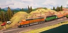 HO Modular Layout (atjoe1972) Tags: show railroad train toy layout model colorado denver modular rockymountain ho bnsf sd402 4926 c449w 113014 atjoe1972 rockymountaintoytrainshow