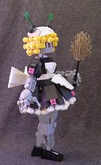 RoboMaid03 (lingonkart) Tags: girl female robot lego maid robotgirl android gynoid frenchmaid frills femalerobot girlrobot robotmaid