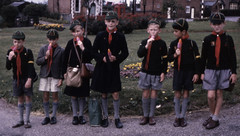 You know why your not getting a lolly (theirhistory) Tags: uk flowers england pee boys grass socks bag children cub shoes uniform sandals cap gb jumper shorts 1960s raincoat cubscout phonebox wetpants