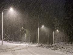 First Snow (Gammalong) Tags: light snow night blizzard vaasa vasa