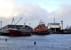 Kirkwall Harbour Basin In December (orquil) Tags: uk winter ferry boats scotland orkney december harbour basin lifeboat kirkwall hightide rnli revelry k100 margaretfoster orkneyferries unusuallyhightide