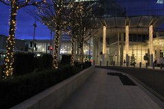 street lights (Artee62) Tags: christmas xmas city bridge england london thames night canon eos lights shard 60d